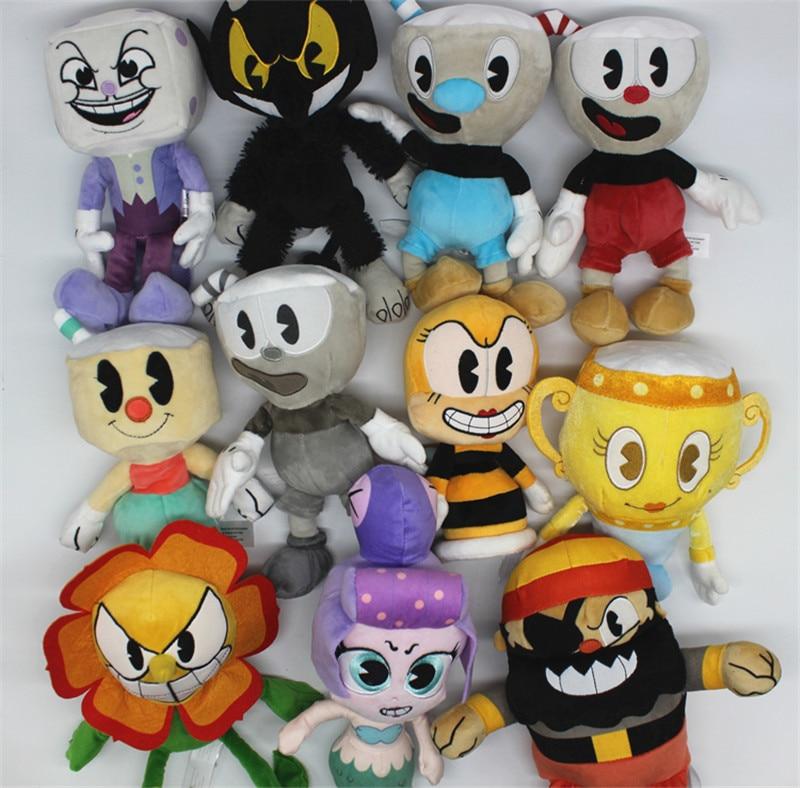 Cuphead /& Mugman Ghost Chalice Legendary Dice Plush Figure Doll Toy Christmas