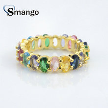 5Pieces,Women Fashion Jewelry,The Rainbow Series Oval Shape Rings Gold Colors, Can Wholesale