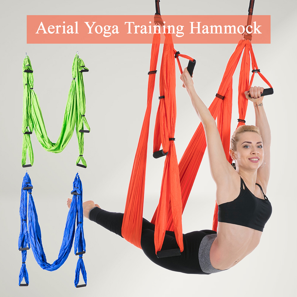 Hamac de Yoga Yoga Aérien Trapèze Inversion Formation Sling Anti gravité Exercice Formation balançoire de Yoga Sangle D'extension Hamac