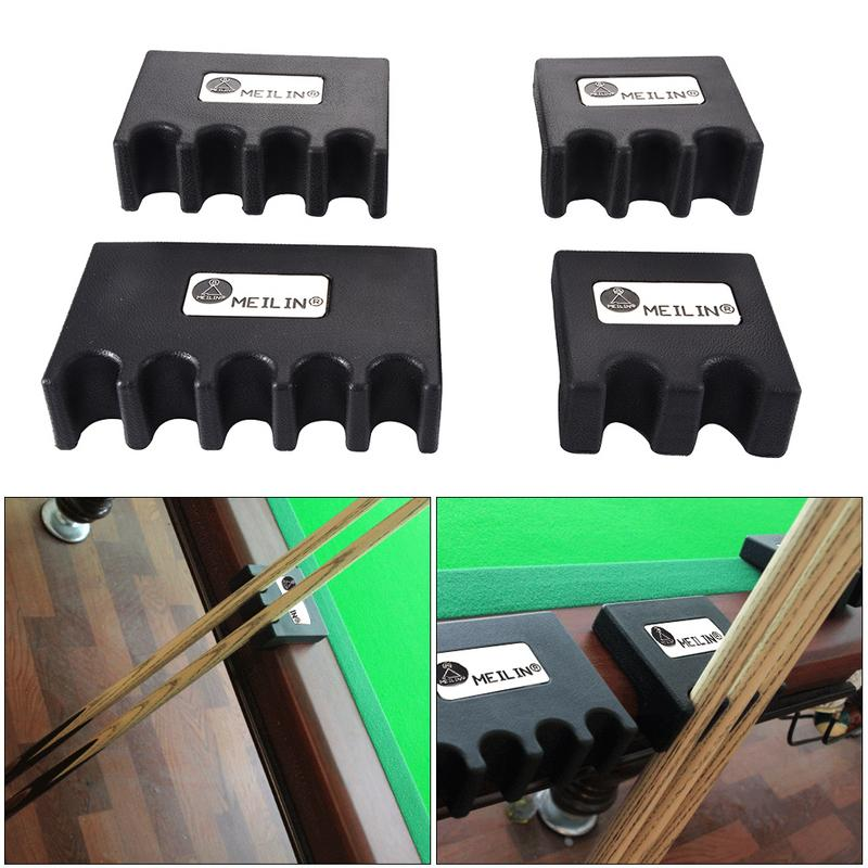 Portable Billiards Pool Cue Stick Holder Stand Rest 2/3/4/5 Size Black Snooker Table Wall Mount Hanging Professional Rack Holder