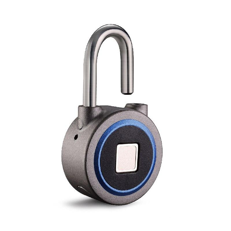 Empreinte digitale serrure intelligente sans clé étanche APP bouton mot de passe déverrouiller Anti-vol cadenas serrure de porte pour système Android iOS