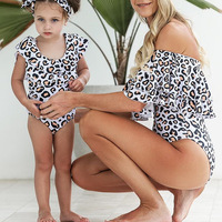 Leopard Family Matching Bathing Suit Family Look Mom And Daughter Swimwear Mommy And Me Bikini Clothes Mother Daughter Swimsuits