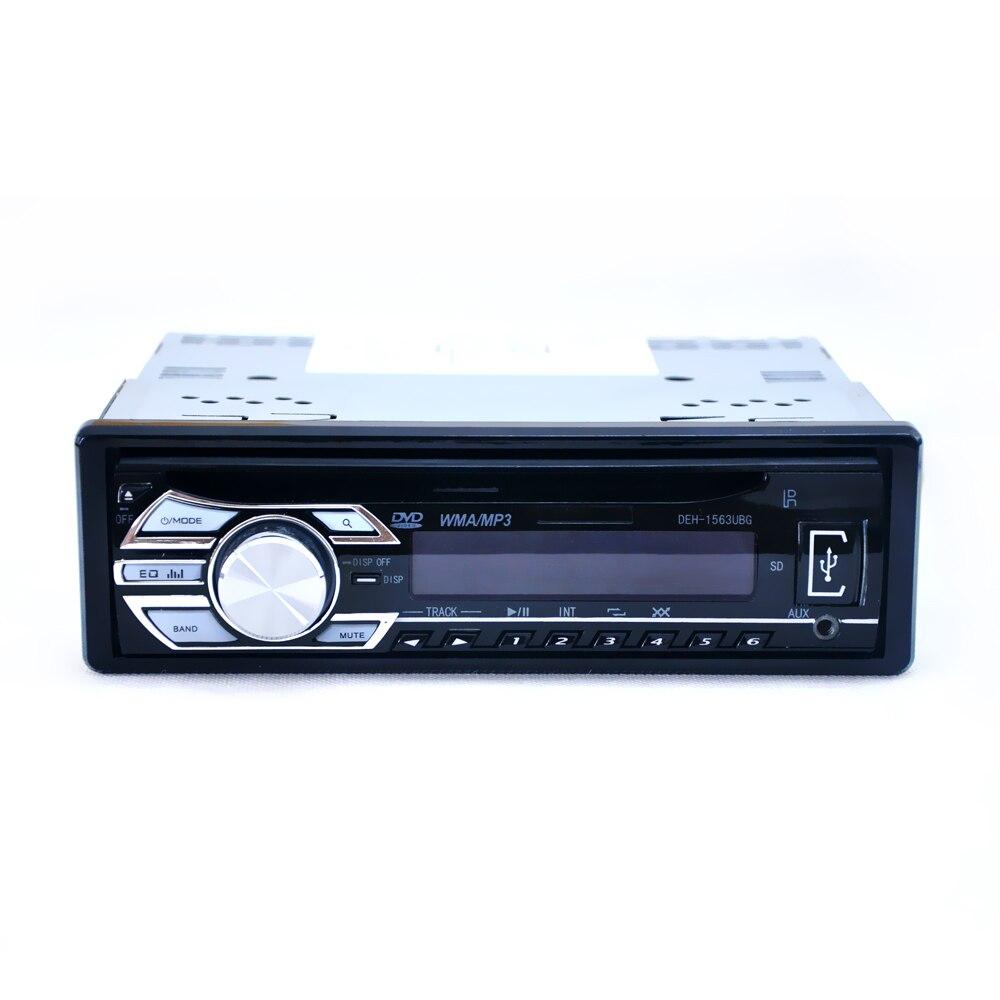 Nouveau-1-DIN 12 V autoradio Audio stéréo lecteurs MP3 lecteur CD Support USB SD lecteur Mp3 AUX DVD VCD lecteur CD avec télécommande