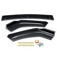 3PCS Carbon Fiber Front Bumper Lip Body Kit Spoiler For Honda Civic Sedan 4Dr