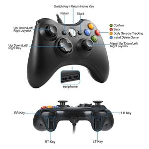 Image 3 - FORNORM Gamepad עבור Xbox 360 Wired בקר Wired ג ויסטיק עבור XBOX360 Gamepad Joypad למחשב בקר עבור Windows 7 8 10