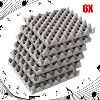 6 шт./компл. акустическая пена для звукоизоляции плитки запутанные яйцо Studio номер звукоизоляции хлопок уплотнительные ленты лечения 30x30x4 см