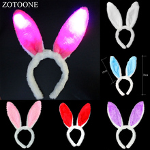 ZOTOONE Beaming Sequin Easter Rabbit Ears Headband Christmas Party Decoration Valentines Day Gift for Child and Girlfriend D