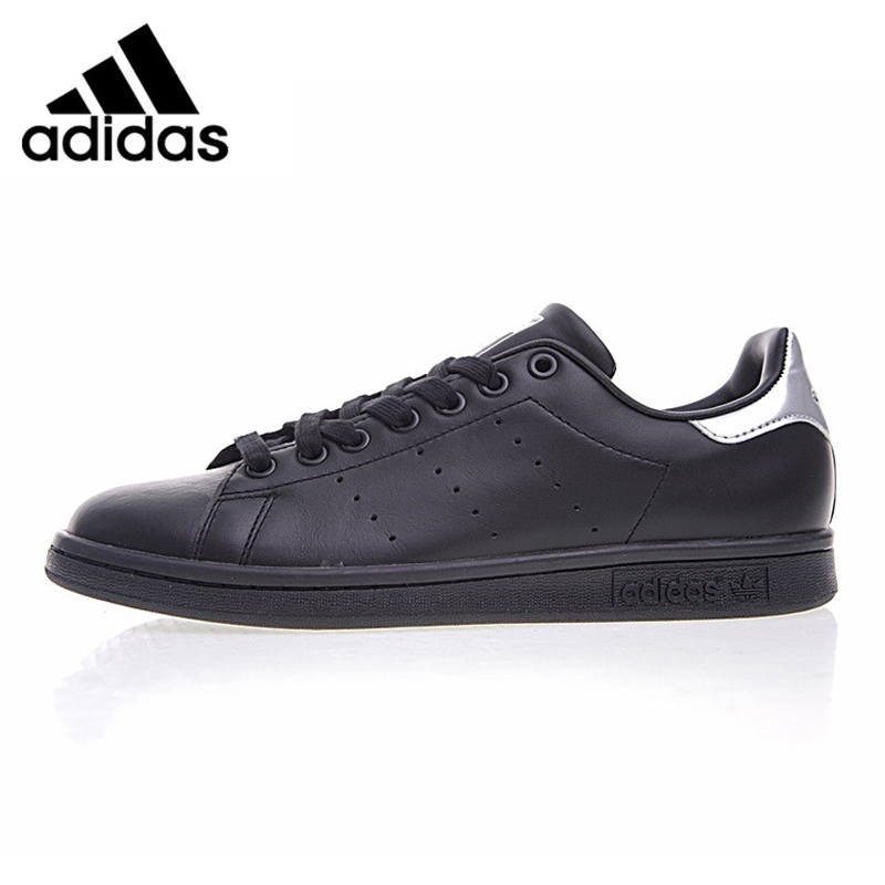premium selection c7528 bc5a0 Adidas Shamrock STAN SMITH Men s Walking Shoes Black Abrasion Resistant  Balanced Breathable Non-Slip Sneakers