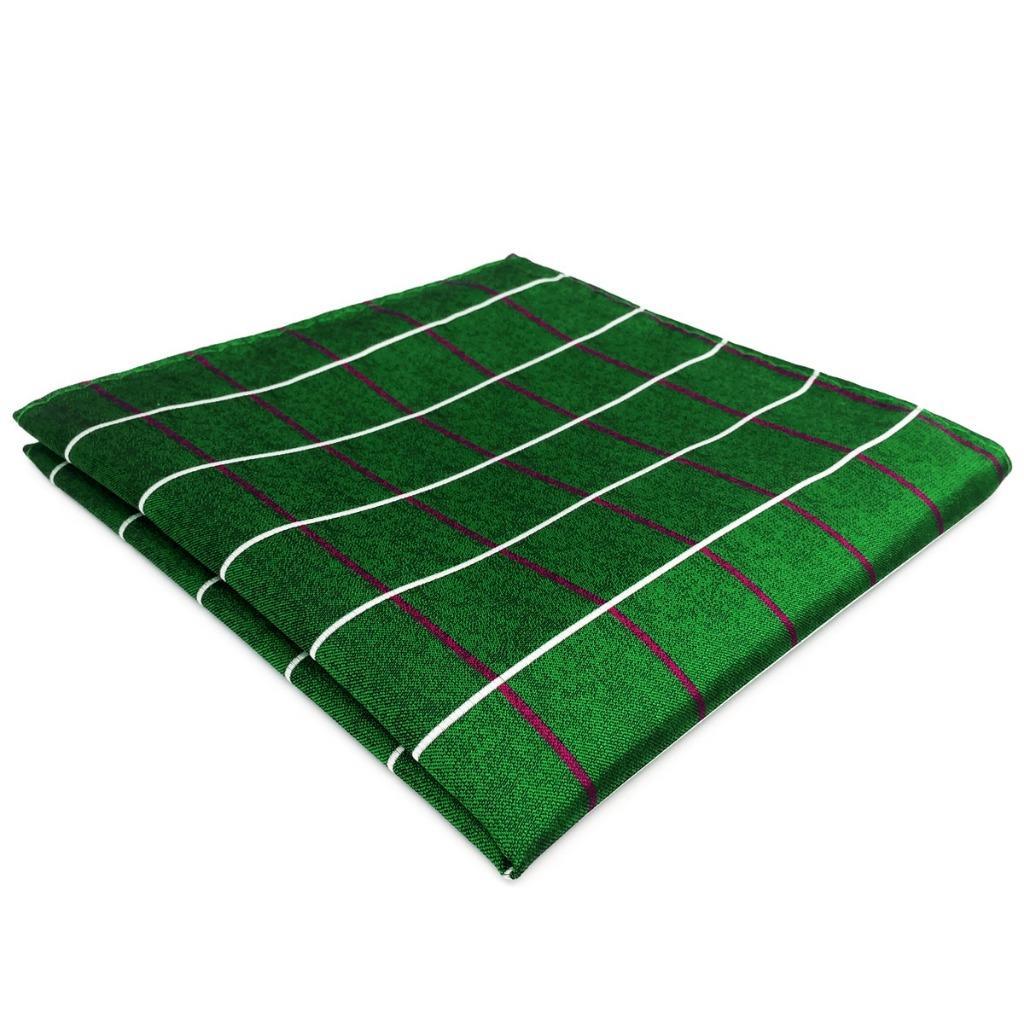 EH28 Mens Pocket Square Dark Green Checkes Classic Handkerchief Fashion Groom