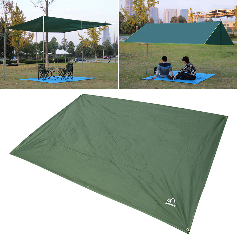 Multi-functional Picnic Mat Tent Tarp Awning Sun Shade Rain Cloth Shelter Camping Moisture-proof Picnic Mat For Outdoor Camping