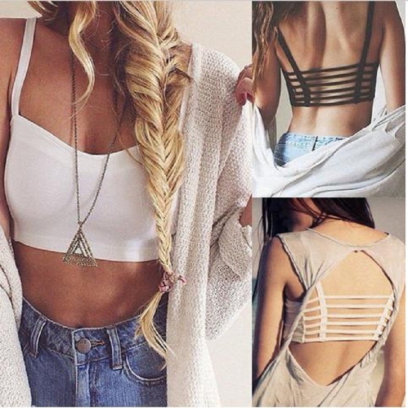 Hot Sexy Women Hollow Out Crop   Tops   Straps Wrapped Chest Bra Summer Vest Beach   Tank     Tops   for Young Ladies