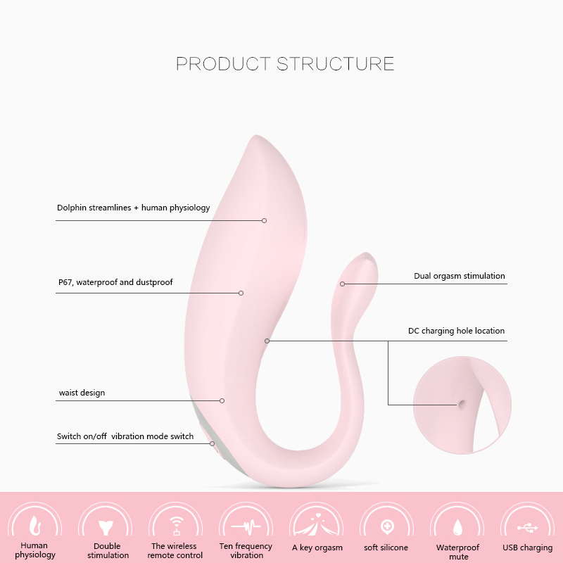 Wireless Remote Wearable Dildo Vibrator 10 Speed Vagina Clitoris Stimulator Vibrador Female Masturbation Sex Toys For Women Girl in Vibrators from Beauty Health