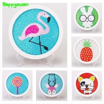 Happyxuan 2019 Neue Diamanten Malerei DIY Mosaik Kinder Kunst und Handwerk Kits Pädagogisches Kreative Spielzeug für Mädchen Handwerk Geschenk