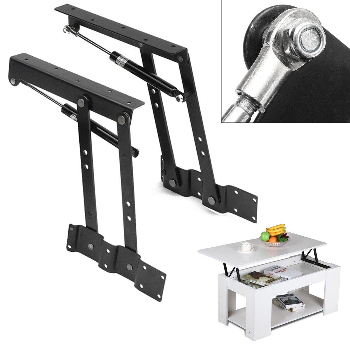 2PCS Lift Up Top Coffee Table Lifting Frame Mechanism Spring Hinge Hardware DIY Lift UP Spring Hinge