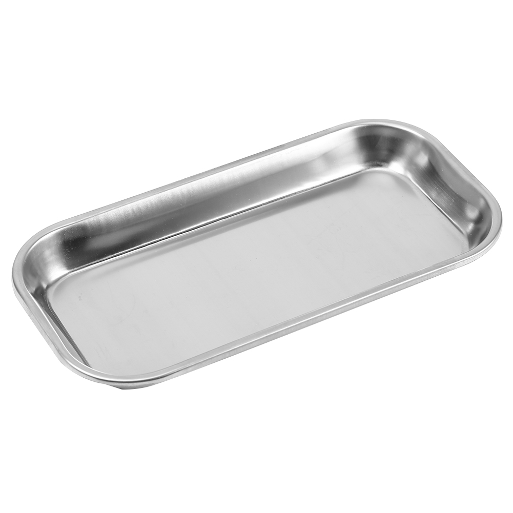 1pc 201 Stainless Steel Tools Storage Tray Instrument Tray Useful Tool Nail Tattoo Device For Clinic Lab