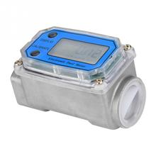 1 NPT Digital Turbine Flow Meter Flowmeter Diesel Fuel flow meter 15-120L/min flowmeter flow indicator Hot Sale lzs 15 50 500 l h short tube pipeline water rotameter flow meter flowmeter tools measurement instruments flowmeters lzs15