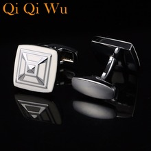 2018 New French Shirt Fashion Cufflinks for mens Brand Cuff links Blue gemelos High Quality Gift for Man Free Shipping RL-8085