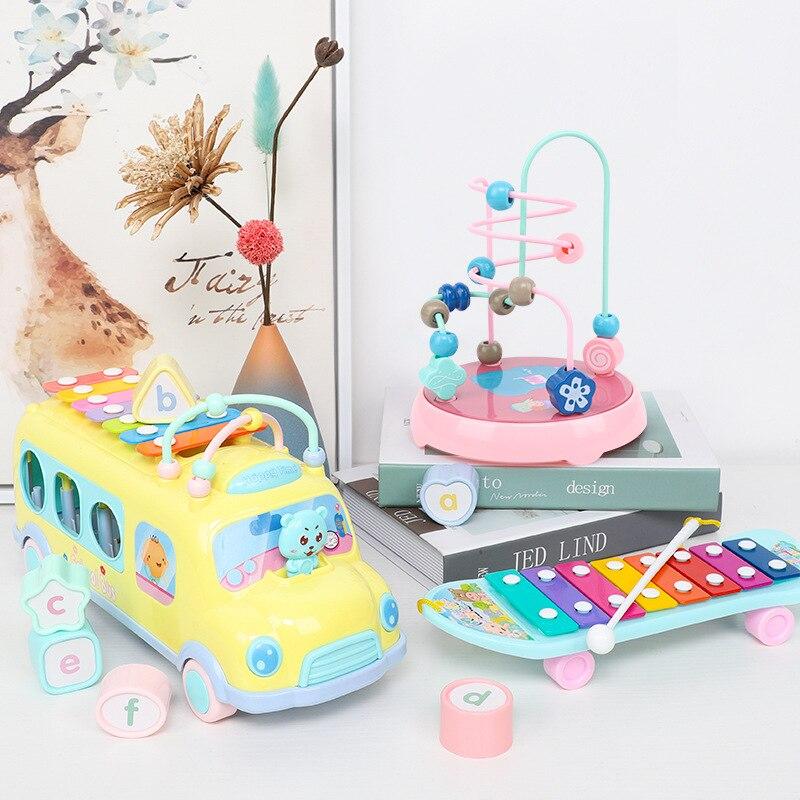 Bébé mouvement Musical enfants Puzzle jouets de la petite enfance bébé battre musique jouets Percussion Instrumen