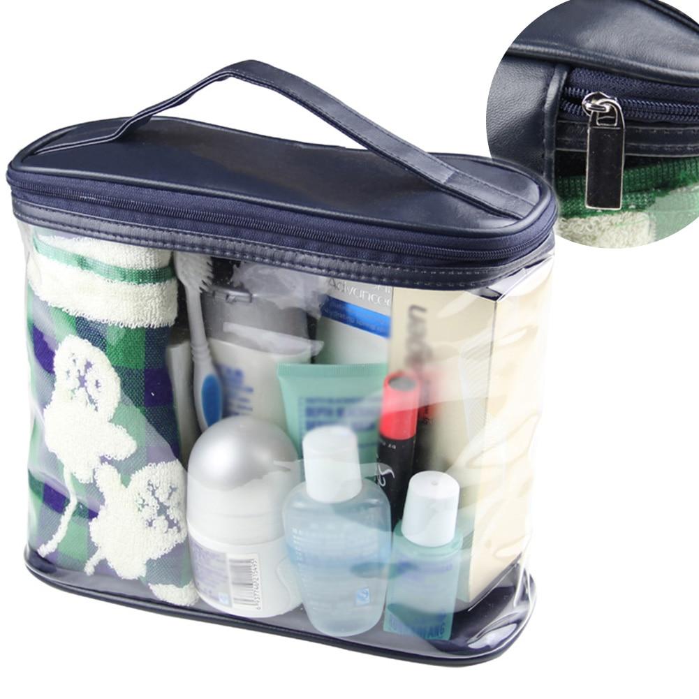 PVC Large Capacity Wash Storage Bag Travel Bath Cosmetic Zipper Toiletry Organizer Transparent Makeup Bag