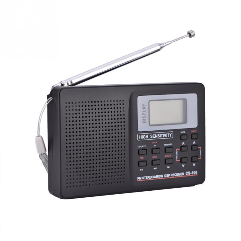 Tragbare Fm/am/sw/lw/tv Ton Volle Frequenz Empfänger Erhalt Radio Wecker Typ 2 Radios 2019 Heißer Tragbares Audio & Video