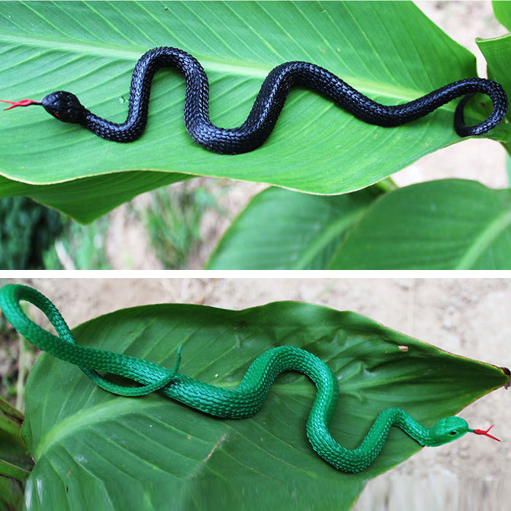 Halloween Prank Prop For Decor High Simulation Rubber Snake Toy Gift Kids Gag Prank Jokes Toys Animals Model Funny Scary Snake in Gags Practical Jokes from Toys Hobbies