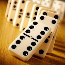 Забавные Мини домино 28 шт. белые с черными точками традиционные игры домино игровой набор обучающая игрушка для детей
