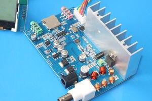 Image 2 - Receptor da estação de transmissão de rádio do display lcd de digitas da frequência do áudio estereofónico 76mhz 108 mhz do pll do transmissor de 5w fm