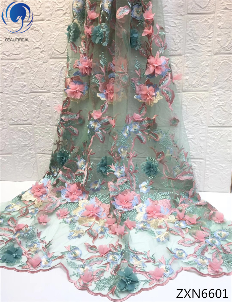 BEAUTIFICAL multi-color lace fabric 3d lace fabric beads bridal wedding 3d flower bead lace fabric 5 yards/lot for dress ZXN66BEAUTIFICAL multi-color lace fabric 3d lace fabric beads bridal wedding 3d flower bead lace fabric 5 yards/lot for dress ZXN66