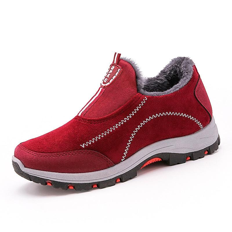 Rojo Zapatos Negro Plataforma rojo Nieve Negro Botas Las Damas Invierno Mujeres Mujer Casual Deporte 2018 De Zapatillas Tobillo v0AqOO