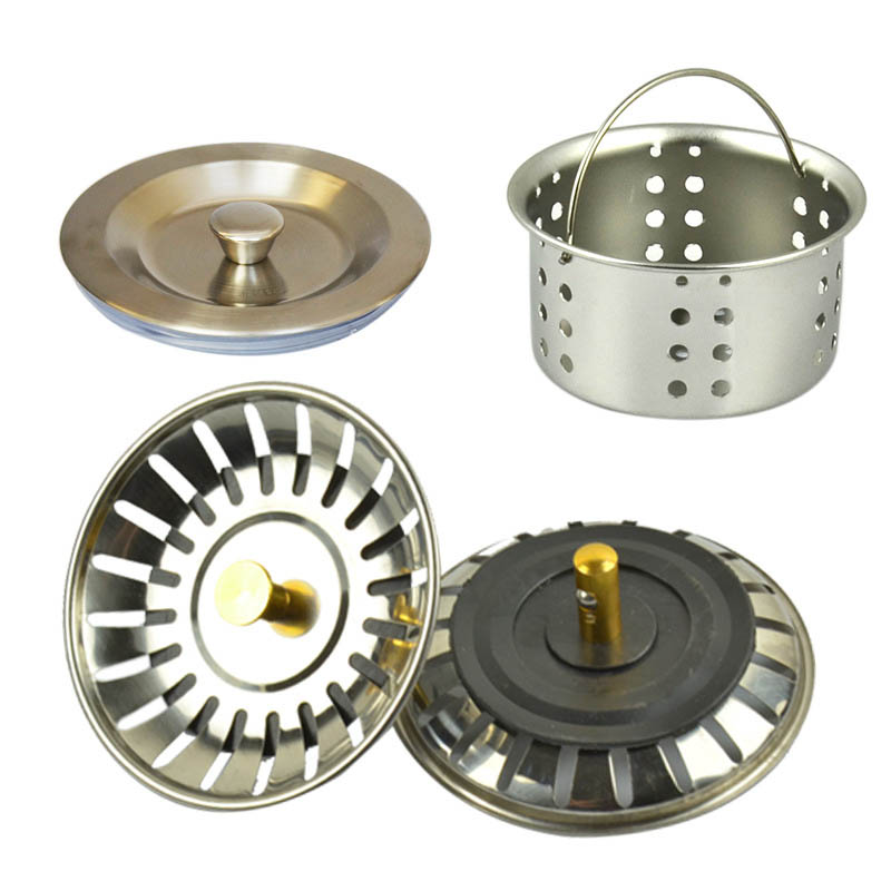 Kitchen Sink Drainer Lid Pool Basket Water Funnel Sink Basin Strainers Bathroom Kitchen Waste Bin Filter Stopper