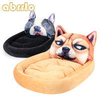 Abrrlo Dog Bed Soft Warm Plush Dog House For Large Dogs Pug French Bulldog Puppy Cotton Padding Dog Blanket Pet Supplies S L