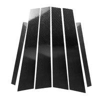 Carbon Fiber Window B pillars Trim Sticker for 3 Series F30 Car Styling