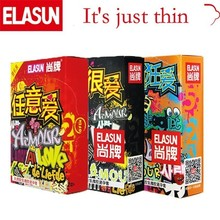 ELASUN 32 PCS Ultra Thin Crazy Love Women Pleasure Condoms N