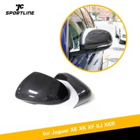 For Jaguar XE XK XF XJ XKR 2010 2018 Carbon Fiber Rearview mirror cover replaced style side mirror covers