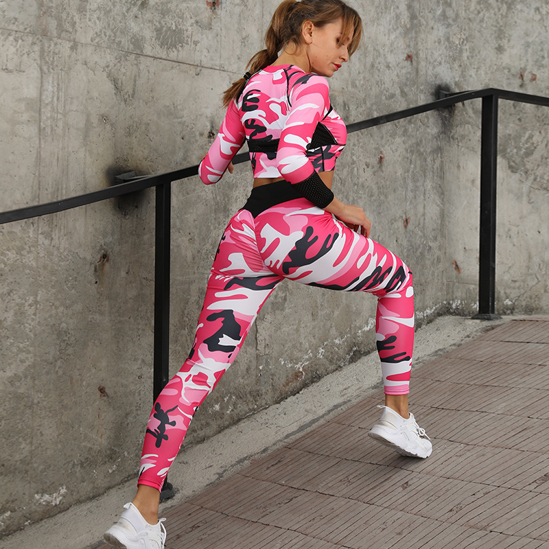 2PCS Womens Gym Clothing Hoodie Pant Femme Jogging Tracksuit Set Woman Long Sleeve Yoga Suits Camouflage Print Sports Wear 20192PCS Womens Gym Clothing Hoodie Pant Femme Jogging Tracksuit Set Woman Long Sleeve Yoga Suits Camouflage Print Sports Wear 2019