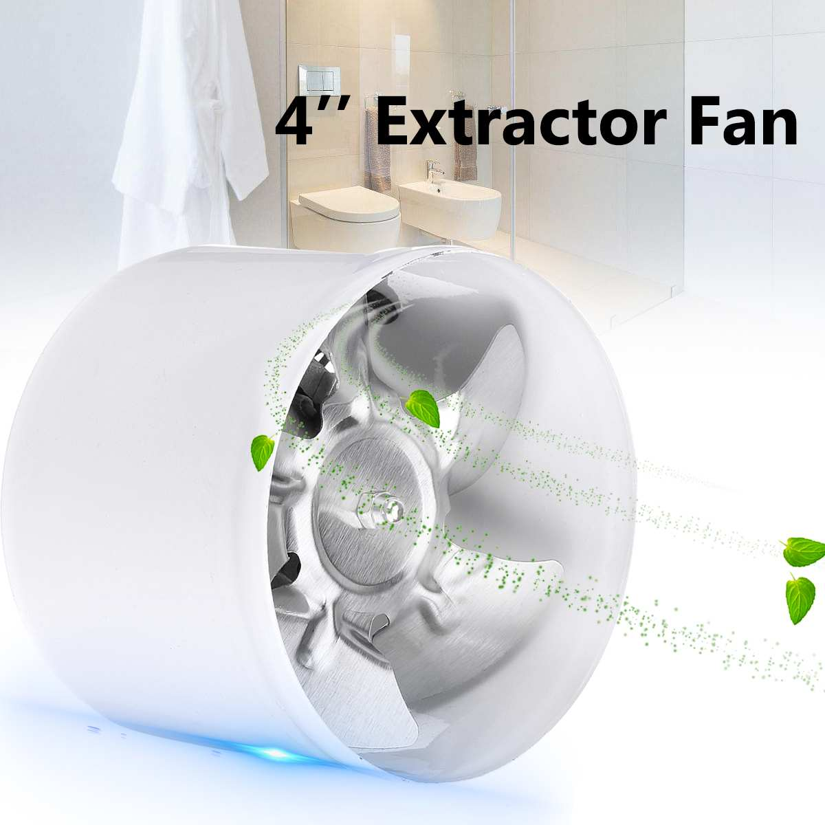 220V 4'' 25W Exhaust Blower Silent Wall Extractor Ventilation Fan Window Bathroom Kitchen Toilet Coo