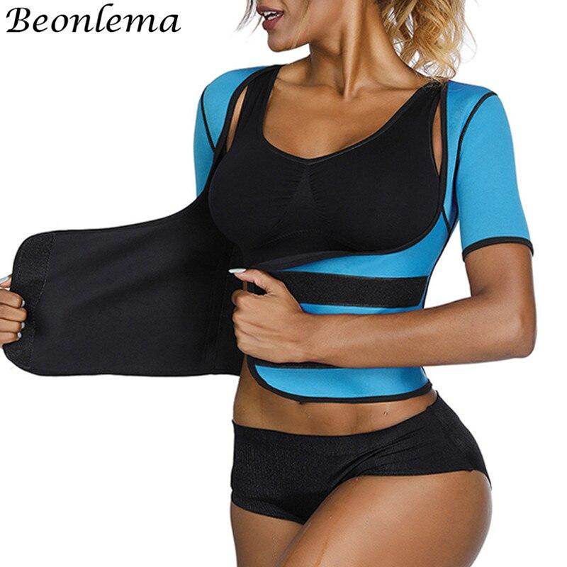Beonlema Women Sweat Waist Shaper Tummy Slimming Shapewear High Waist Faja Shaper Femme Neoprene Sport Mujer Shapers S-3XL