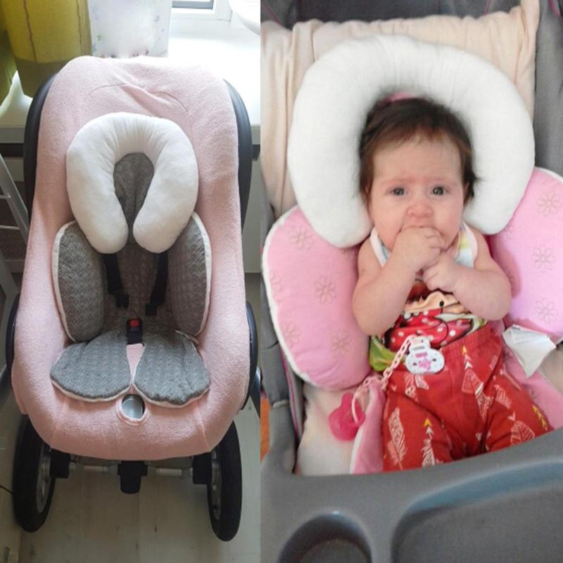 Baby Infant Newborn Stroller Pad Body Support Cushion Soft Sleeping Pillow Safe Car Pillow Qualified Baby Neck Protection