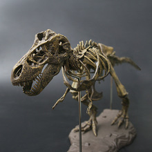 Antique 70cm 4D Assembled Dinosaur Skull T-rex Simulation Animal Figurines Children Toys Halloween Home Decoration Accessories