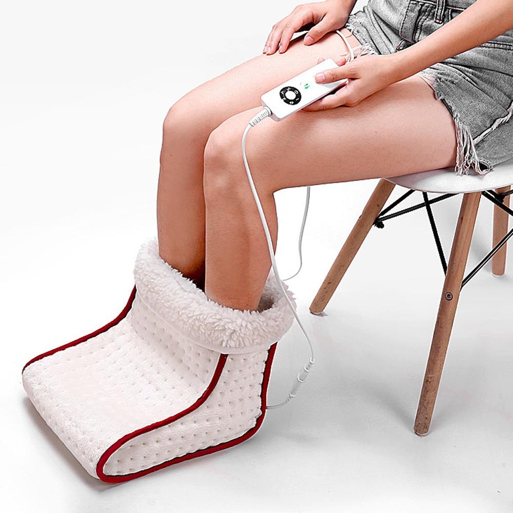 Masseur électrique pour les pieds chauffe-pied chaud lavable chaleur 5 Modes réglages de chaleur coussin thermique outils de soin des pieds