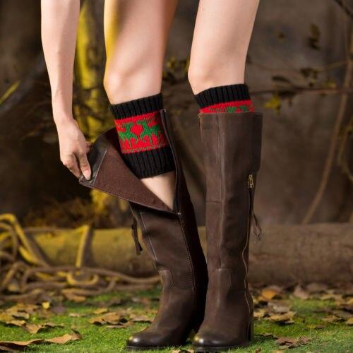 2019 New Women Warm Winter Crochet Boot Cuffs Elk Knitted Toppers Boot Socks Leg Warmer