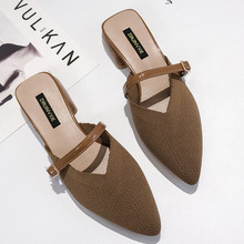 купить Summer Slip On Mules Pointed Toe Sexy Slippers Women 2019 Rome Flat Sandals Ladies Mules Outdoor Summer Women Shoes Beach Sandal по цене 1135.79 рублей