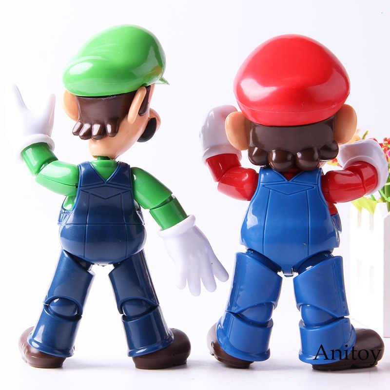 Figuras Super Mario Bros Luigi/Jogo Mario Action Figure Coleção Modelo Brinquedos