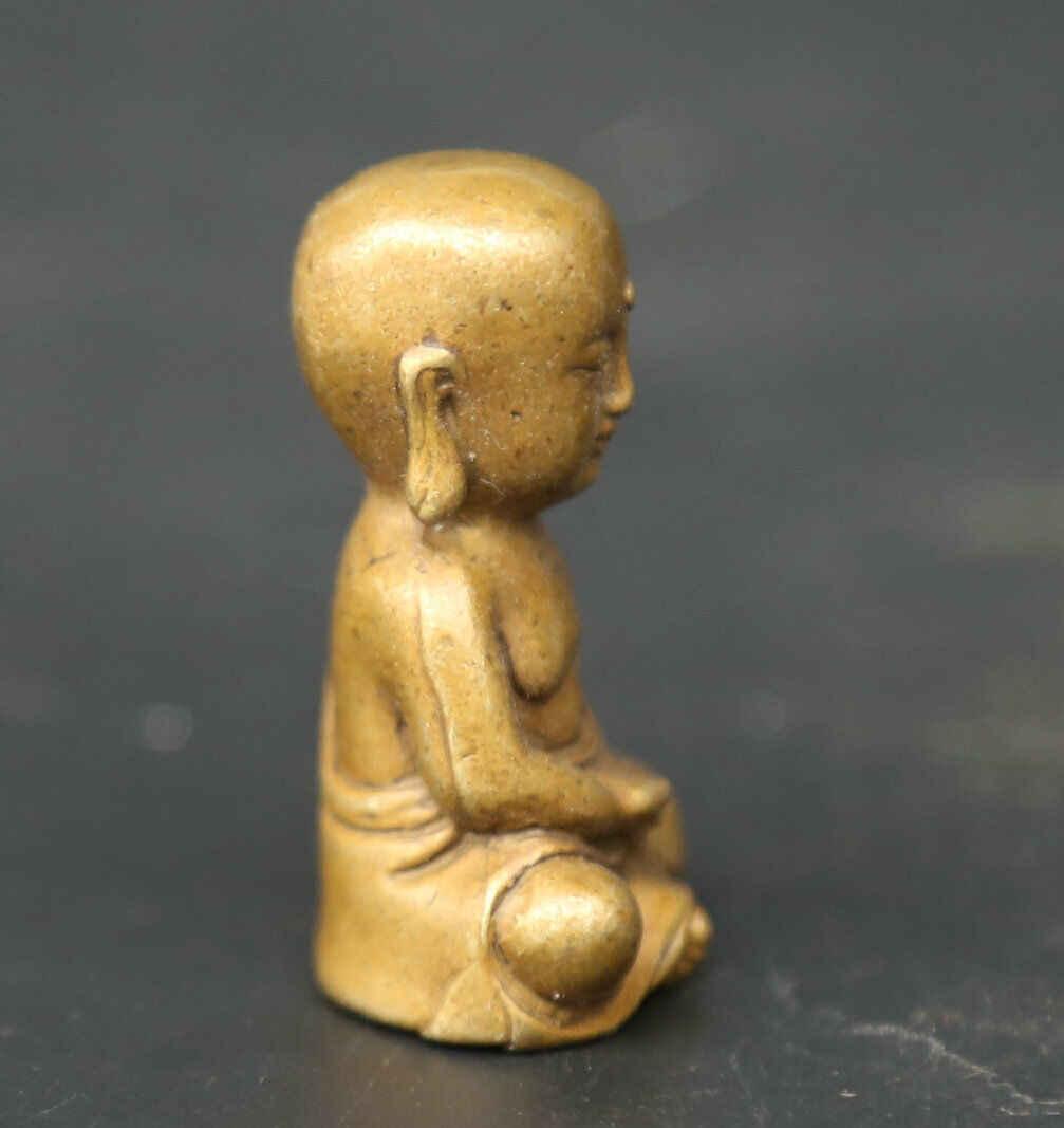 Coletar Budismo Chinês Bronze Guan Yin Boddhisattva Estátua Kshitigarbha Boddhisattva