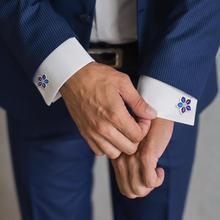 Men French Shirt Sleeve Button Plated Cufflinks Smooth Stainless Steel Unisex Cufflinks Jewelry Wedding business Jewelry