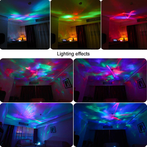 Image 5 - Ocean Wave Projector Remote Control Projector Lamp 7 Color Changing Music Player Night Light Projector for Kids Adults Bedroom