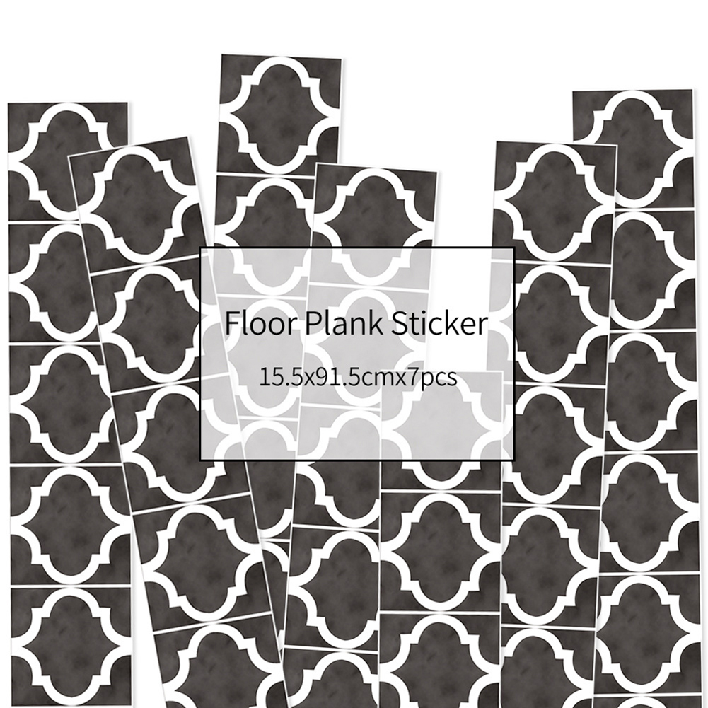 HXM 7pcs Floor stickers DIY Self adhesive Wall Tile Stickers Wood Grain Frosted Film Wallpaper Kitchen Living Room Decor #11