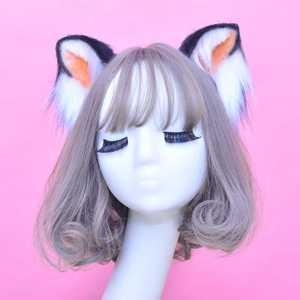 Image 2 - Обруч для волос с кошачьими ушками Женский, шпилька для волос, аксессуар для волос, ручная работа с бантом, оленем