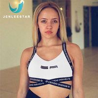 40601220d Sports Bras Running Fitness Gym Sportswear Women Yoga Tops Workout  Activewear Open Back Letter Quick Dry