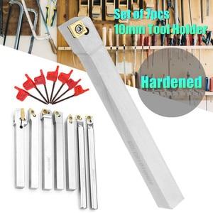 Image 2 - Drillpro Upgrade 21pcs 10mm Turning Tool Holder Lathe Boring Bar+Carbide Insert+Wrench Set Alloy Steel